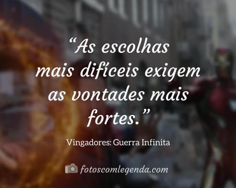 Frase do Filme Vingadores: Guerra Infinita