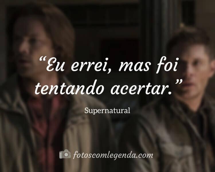 Frases de Séries Supernatural.