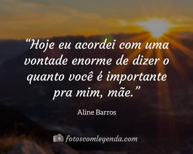 Frases de Músicas Aline Barros, Frases de Mãe