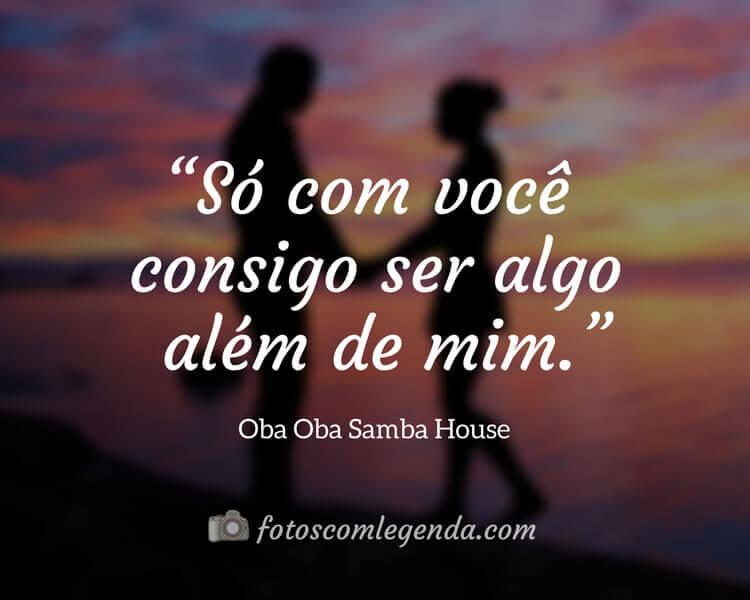 Frase Oba Oba Samba House