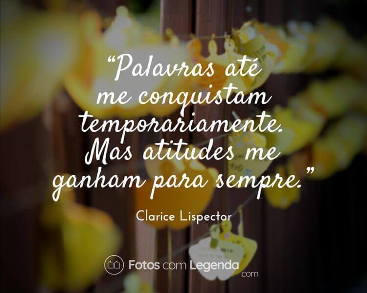 Frase Clarice Lispector.
