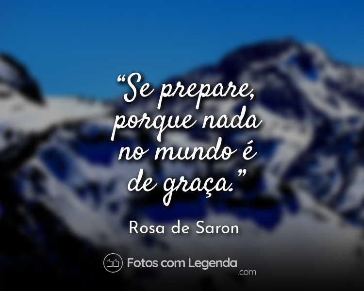 Frase Rosa de Saron Se prepare porque nada.