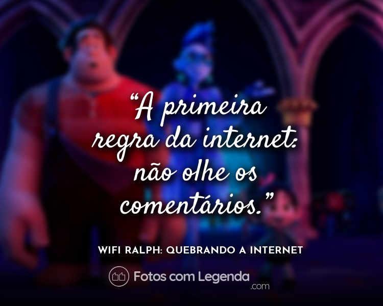 WiFi Ralph Frases A primeira regra.