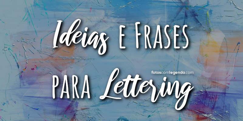 Lettering Frases Motivacionais