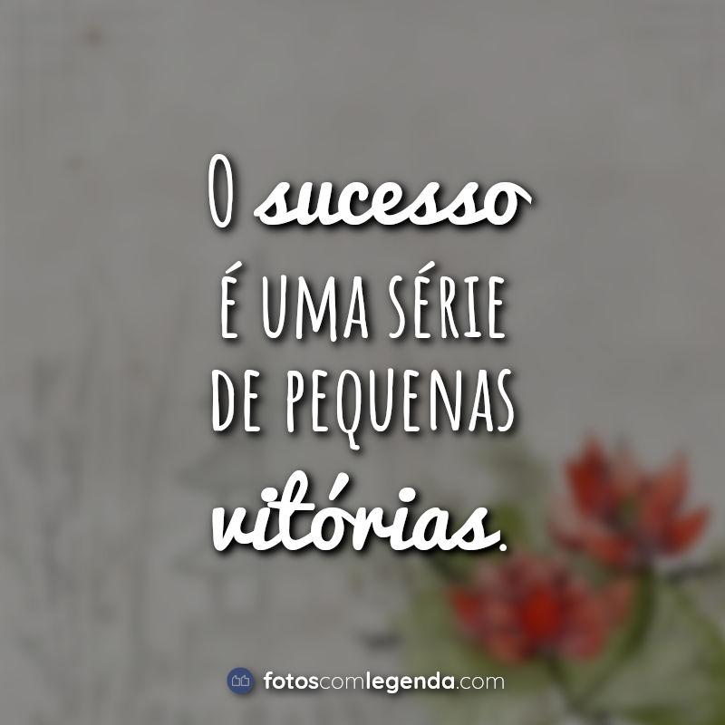 Lettering Frases Tumblr: O sucesso é uma.