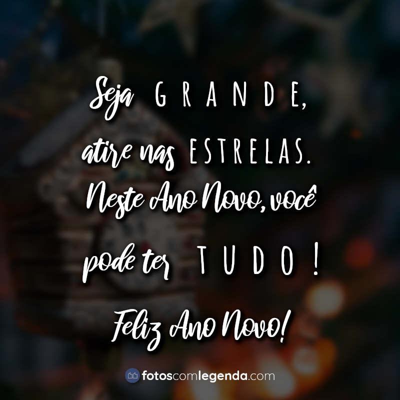 Lettering Ano Novo Seja grande atire.